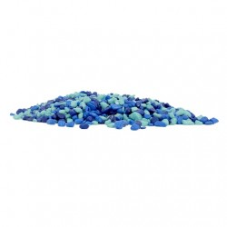 Grava para Betta Color 500g MARINA - Azul Ton Betta