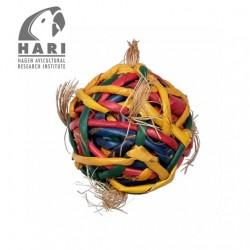 Juguetes Naturales para Pájaros Tesoros Rústicos HARI - Bola Forrajeo