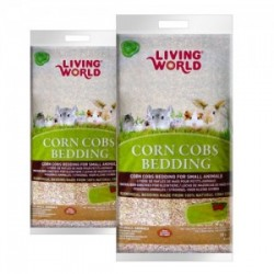 Lecho Sanitario de Mazorca Corn Cobs LIVING WORLD - 10 lts Natural