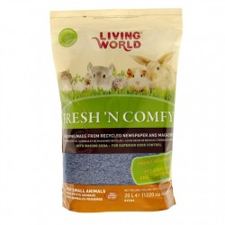 Lecho Sanitario de papel Fresh & Comfy Living World - Azul 20 Litros