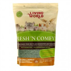 Lecho Sanitario de papel Fresh & Comfy Living World - Verde 10 litros