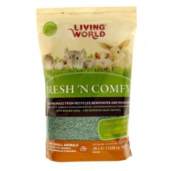 Lecho Sanitario de papel Fresh & Comfy Living World - Verde 20 Litros