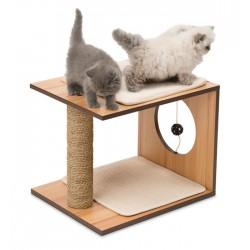 Mueble Taburete Rascador para Gatos V-Stool Vesper - Nogal
