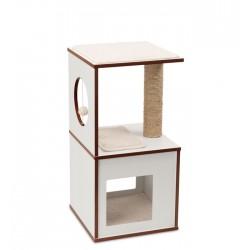 Mueble Rascador para Gatos V-Box Vesper - Blanco Pequeño