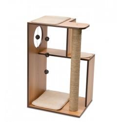 Mueble Rascador para Gatos V-Box Vesper - Nogal Grande