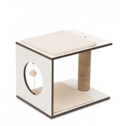 Mueble Taburete Rascador para Gatos V-Stool Vesper - Blanco