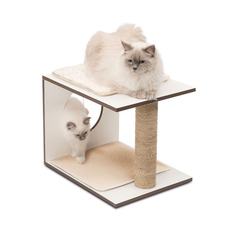 Mueble rascador para gatos v stool vesper for Mueble arenero para gatos