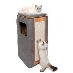 Mueble rascador Vesper Cubo y Vesper Tower - Cubo Tower