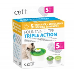 Cartucho Triple Acción para Flower Fountain Catit - 3lts 5 Pc