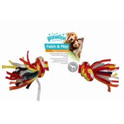 Pawise Mordedor Trenzado Multicolor  - Hueso 23cm
