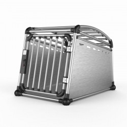 AFP Jaula Transporte para Coche de Aluminio Travel Dog - M-52x64,5x77cm