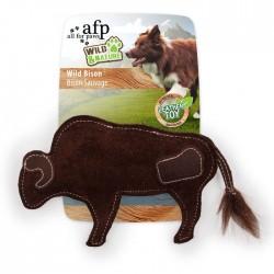 All For Paws Juguetes de Cuero Wild & Nature - Bisonte Salvaje - Cuero Real 19x12x3cm