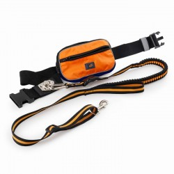 All For Paws Correa de Jogging con Bolso OutDoor  - Naranja