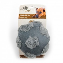 All For Paws Peluches Cuddle LAM Dog - Pelota de Fútbol Cuddle - Marrón/Gris/Blanco 15cm