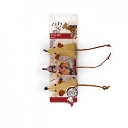 All For Paws Juguetes Dreams Catcher Con Catnip  - Ratóncitos 3pc 6cm
