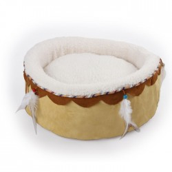 All For Paws Cama para Gatos Dreams Catcher Redonda   - Arena