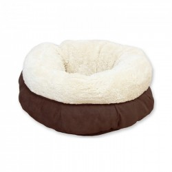 All For Paws Cama Donut Lam Cat   - Marron
