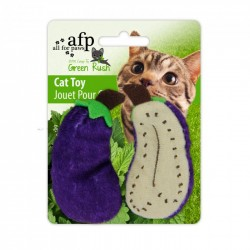 All For Paws Juguetes Para Gatos Green Rush Catnip  - All Natural - Berenjena/Zanahoria/Guisante 6cm