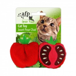 All For Paws Juguetes Para Gatos Green Rush Catnip  - Fruit On The Loose - Tomate/Banana/Pera 6cm