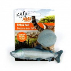 All FOR PAWS Animales de peluche NATURAL INSTINCTS - Pez y Pelota 15cm