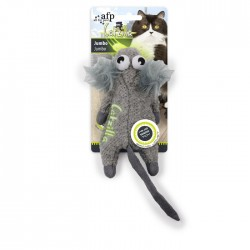 All For Paws Juguetes Grandes Catzilla para Gatos  - Jumbo - Gris/Blanco/Negro 19cm