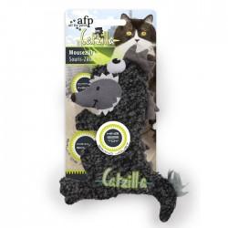 All For Paws Juguetes Grandes Catzilla para Gatos  - Mousezilla - Azul/Negro/Verde 19cm