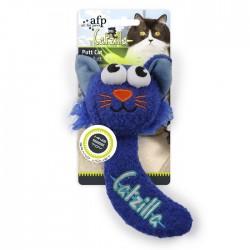 All For Paws Juguetes Grandes Catzilla para Gatos  - Putt Cat - Azul/Verde/Rosa 16,5cm