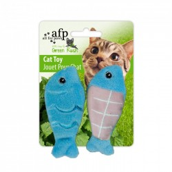 All For Paws Juguetes Para Gatos Green Rush Catnip Animales  - Pesca de Día - Azul/Gris/Naranja 6cm