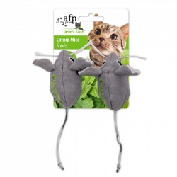 All For Paws Juguetes Para Gatos Green Rush Catnip Animales  - Ratoncitos 7,5cm