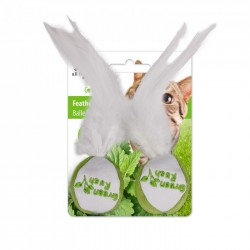 All For Paws Juguetes Para Gatos Green Rush Catnip Animales  - Bola de plumas 5cm