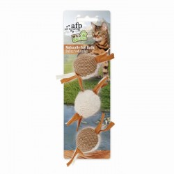 All For Paws Juguetes Wild & Nature Para Gatos  - Bolas Naturalmente Divertidas 17cm