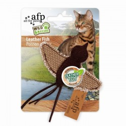 All For Paws Juguetes Wild & Nature Para Gatos  - Amigos de Cuero 14cm