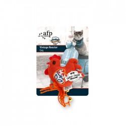 All For Paws Juguetes Vintage para Gatos con Catnip - Gallo 9cm