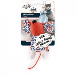 All For Paws Juguetes Vintage para Gatos con Catnip - Ratón 9,5cm