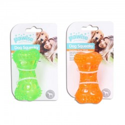 Pawise Juguetes TPR Squeaky con Sonido  - Hueso 11cm