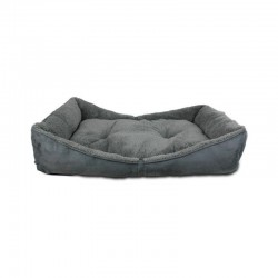 All For Paws Cama Bolster Lam Dog - Gris M-86x59x18cm