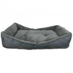 All For Paws Cama Bolster Lam Dog - Gris L-105x65x18cm