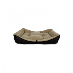 All For Paws Cama Bolster Lam Dog - Marrón S-80x50x18cm
