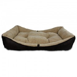 All For Paws Cama Bolster Lam Dog - Marrón L-105x65x18cm