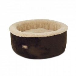 All For Paws Cama Curl & Cuddle Para Gatos Lam Cat  - Marron