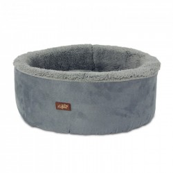 All For Paws Cama Curl & Cuddle Para Gatos Lam Cat  - Gris