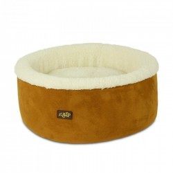 All For Paws Cama Curl & Cuddle Para Gatos Lam Cat  - Beige-2