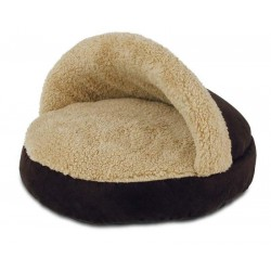 All For Paws Cama Cozy Snuggle Para Gatos Lam Cat   - Marron