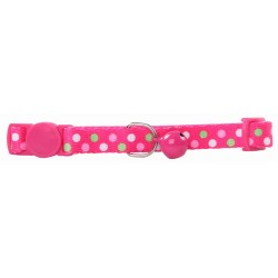 Pawise Collar Ajustable Fancy Cat - Rosa Puntos