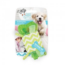 All For Paws Juguete Cachorro Teething Little Buddy - Llave Dental - Verde 15cm