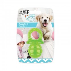 All For Paws Juguete Cachorro Teething Little Buddy - Chupete Verde - S 7,8cm