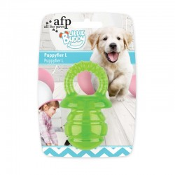 All For Paws Juguete Cachorro Teething Little Buddy - Chupete Verde - L 13cm