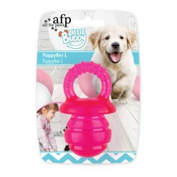 All For Paws Juguete Cachorro Teething Little Buddy - Chupete Rosa - L 13cm