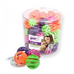 Pawise Cubo con Juguetes para Gatos  - Plástico 60uds
