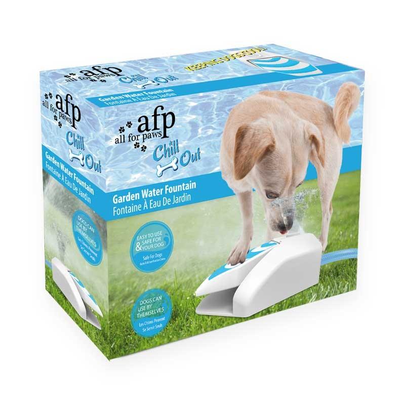 Bebedero fuente de jardin para perros chill out - Jardin para perros ...